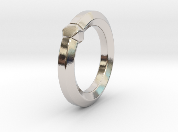 Hea - Ring in Rhodium Plated Brass: 6 / 51.5
