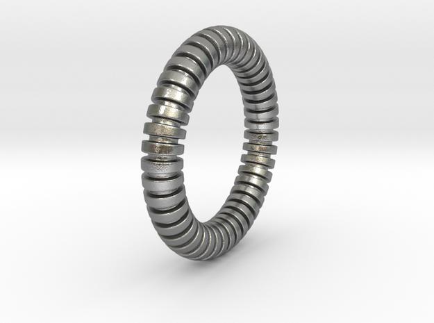 Patrick Circle - Ring in Natural Silver: 6 / 51.5