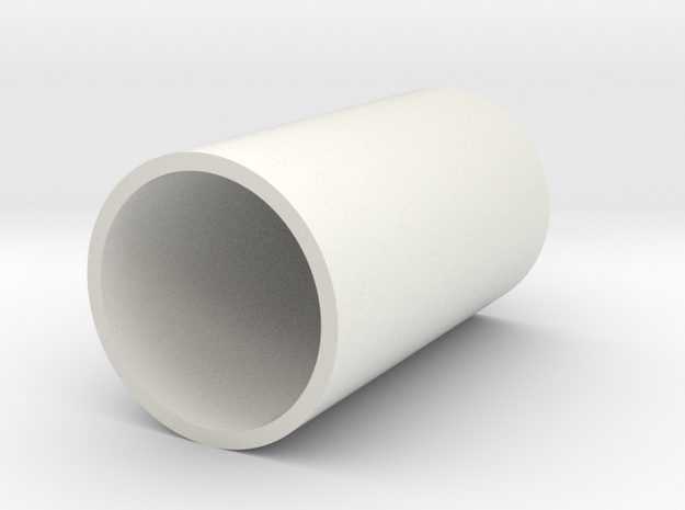 KRCNC1 top plug part2 in White Natural Versatile Plastic
