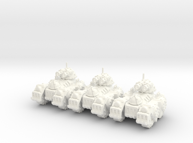 6mm - Steam Gatling Tank in White Processed Versatile Plastic