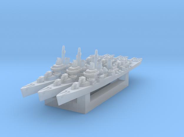 USS Kidd (Fletcher class destroyer) x3 1/3000 in Smooth Fine Detail Plastic