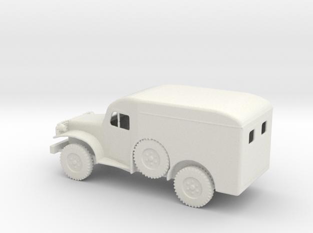 1/72 Scale Dodge WC-54 Ambulance in White Natural Versatile Plastic