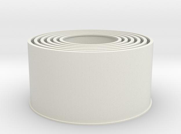 20190720PneumaticTowerOddCylinders168mm in White Natural Versatile Plastic