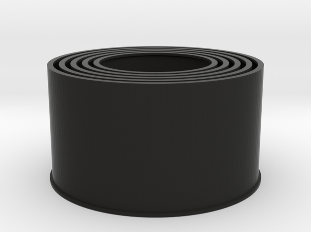 20190721PneumaticTowerEvenCylinders159mm in Black Natural Versatile Plastic