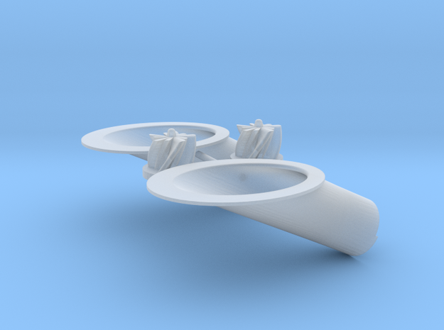 TURBO VOLUTE ANGLED in Smooth Fine Detail Plastic