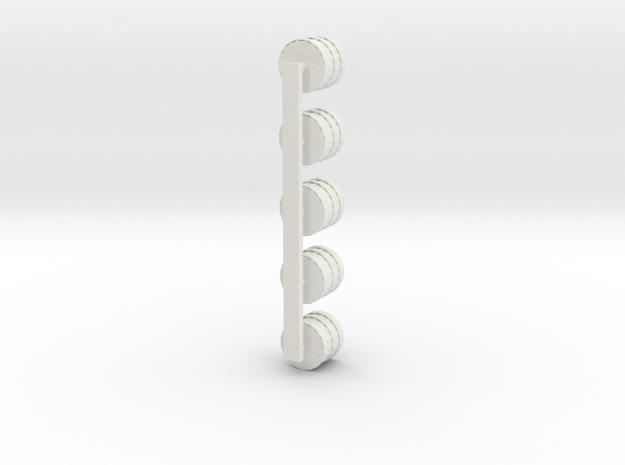 Barrel Set5pt in White Natural Versatile Plastic