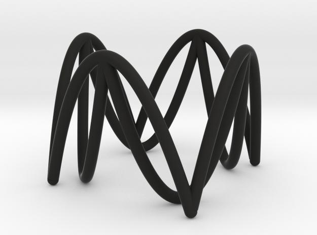 Circle/Square Illusion in Black Natural Versatile Plastic