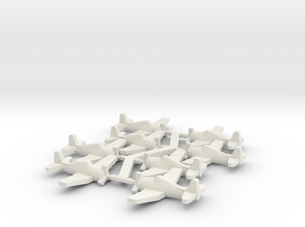 US F6F Hellcat Fighter in White Natural Versatile Plastic: Small