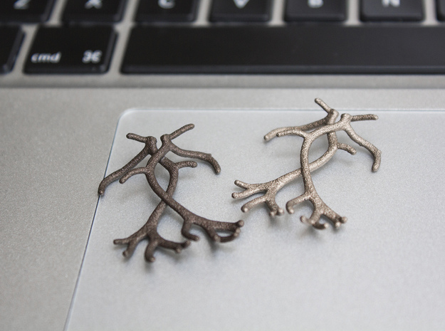 Reindeer Antlers in Polished Bronze Steel