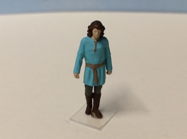 Peasant Male in Smoothest Fine Detail Plastic: 1:64 - S