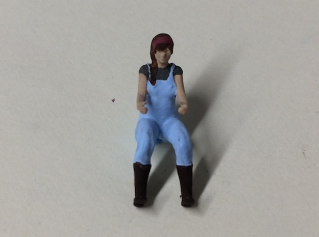 Female Farmer Driver in Smoothest Fine Detail Plastic: 1:64 - S