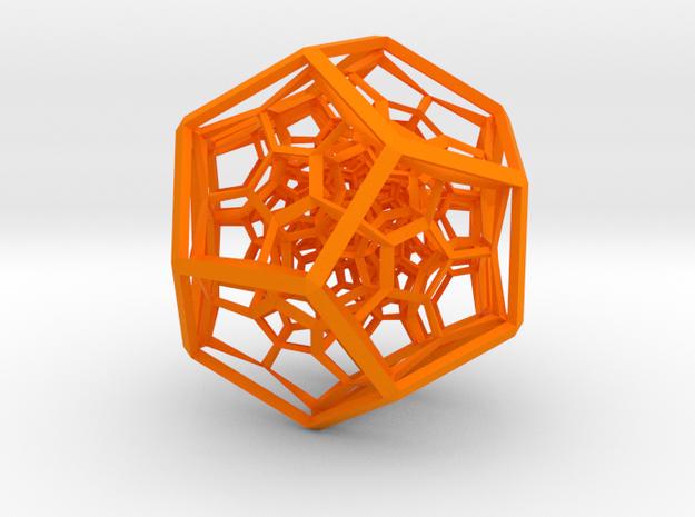 120-cell in Orange Processed Versatile Plastic