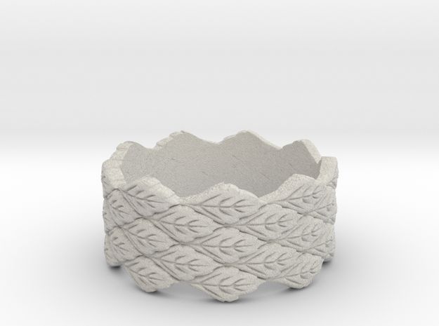 the leaf ring  3d printed