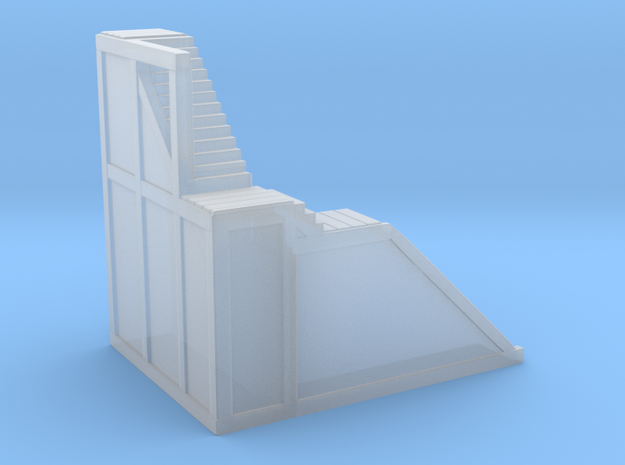 Glacier Town (Left side) Stairs in Smooth Fine Detail Plastic