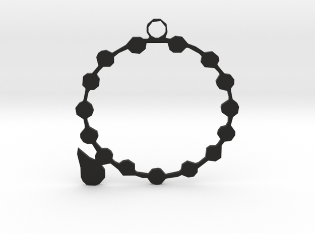 SERIPPY PENDANT  in Black Natural Versatile Plastic
