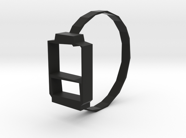 SERIPPY RING in Black Natural Versatile Plastic