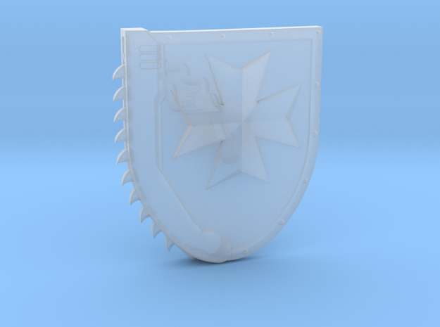 Left-handed Chainshield (Temple Cross design) in Smooth Fine Detail Plastic: Small