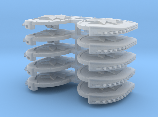 Mixed Chainshields (Temple Cross design) in Smooth Fine Detail Plastic: Large