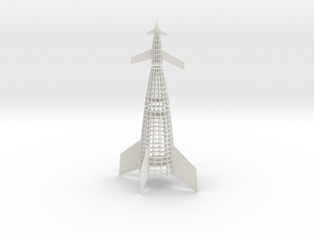 1/200 VON BRAUN SHUTTLE - UNDER CONSTRUCTION in White Natural Versatile Plastic