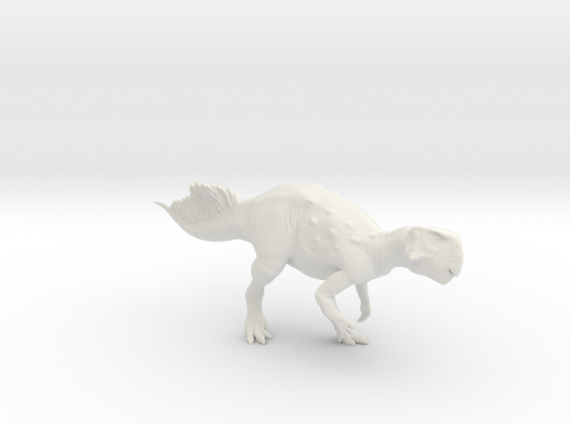Psittacosaurus walking 1:12 scale model in White Natural Versatile Plastic