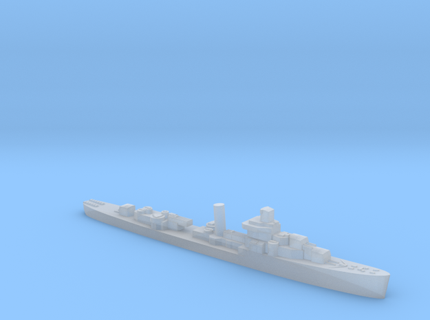 USS Somers destroyer 1943 1:1800 WW2 in Smoothest Fine Detail Plastic