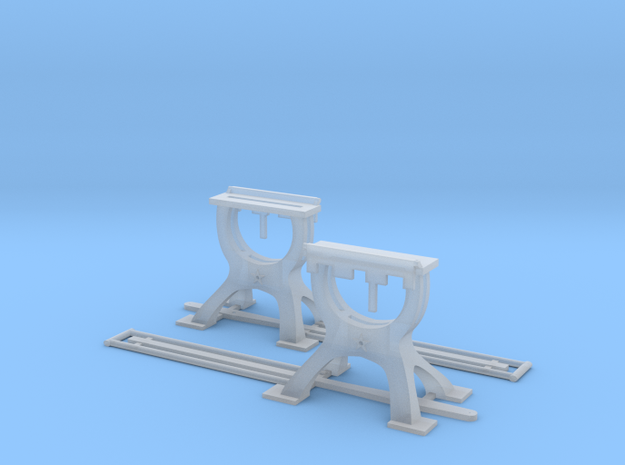Harp Switch Stand - Chunky base - Two Pack in Smoothest Fine Detail Plastic