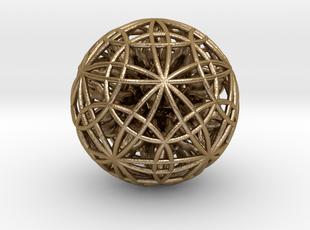 """Power Ball 2.5"""" in Polished Gold Steel"""