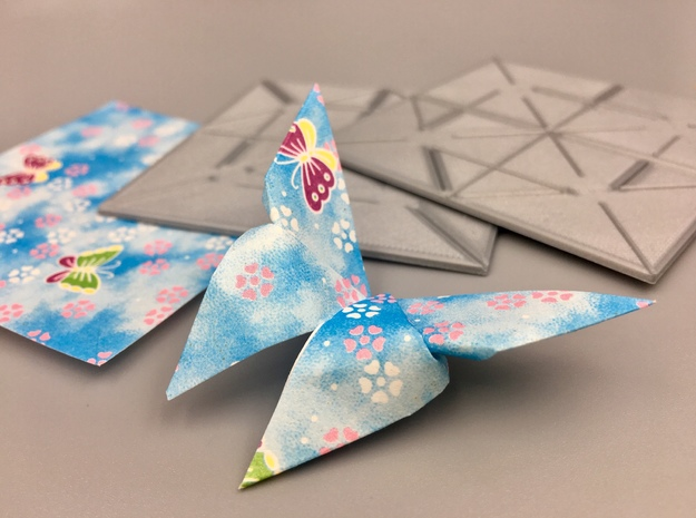 Origami Press - Butterfly in White Natural Versatile Plastic