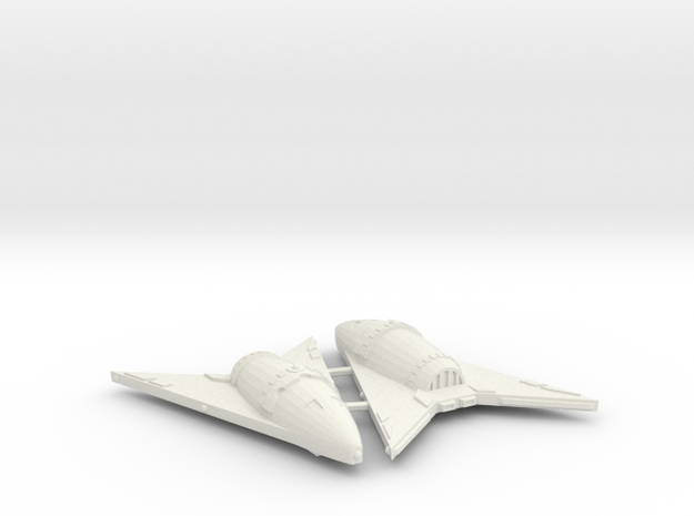 3788 Scale Hydran Hunter Frigates (2) CVN in White Natural Versatile Plastic