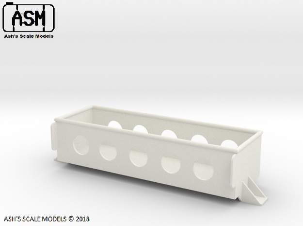 1/16 M113AS4 STOWAGE BIN in White Natural Versatile Plastic