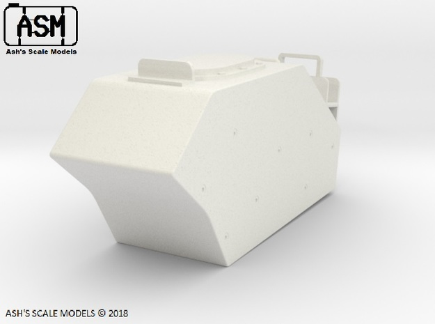 1/16 M113AS4 LEFT EXTERNAL FUEL TANK in White Natural Versatile Plastic
