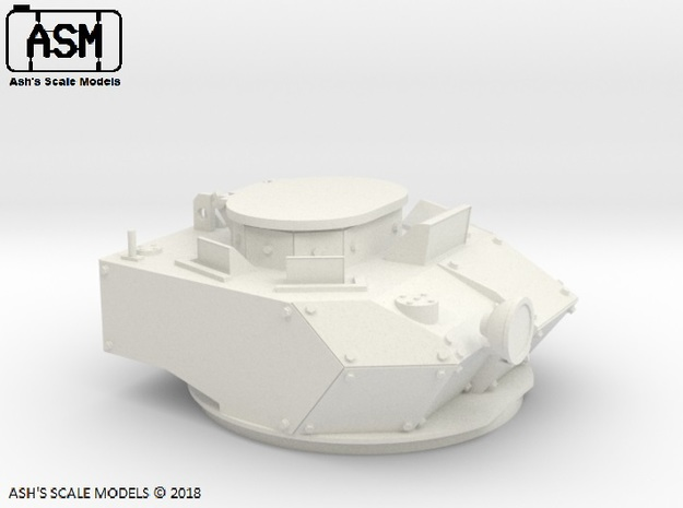 1/16 M113AS4 TURRET in White Natural Versatile Plastic