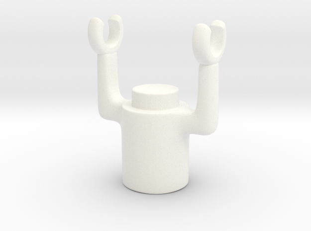 Swivel Holder in White Processed Versatile Plastic