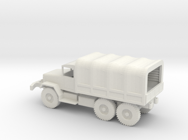 1/87 Scale M34 Cargo Truck with cover in White Natural Versatile Plastic