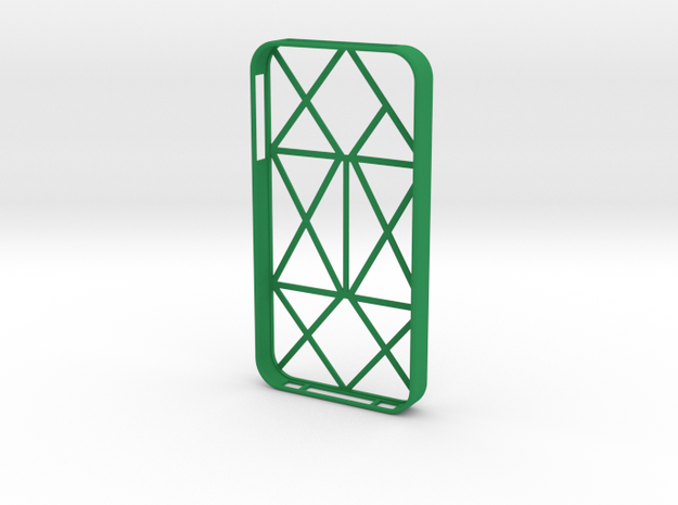 iPhone 4/4s multiline case in Green Processed Versatile Plastic