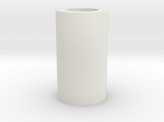 Tubular Stopper in White Natural Versatile Plastic