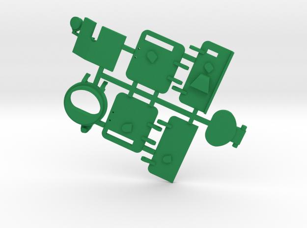 Large Peacekeeper/Ranger Part 2 in Green Processed Versatile Plastic: 1:43