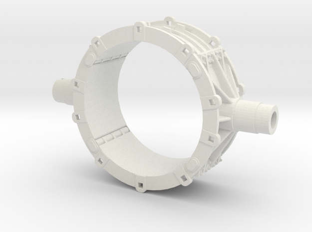 Mesta Toroidal Steel Mill Casting Model in White Natural Versatile Plastic: 1:87 - HO