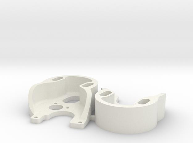 SCX24 370 Motor Plate x2 in White Natural Versatile Plastic