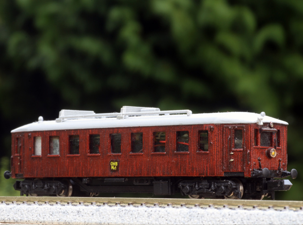 N scale Scandia Railmotor, DSB MBF, OMB MH 1 and m