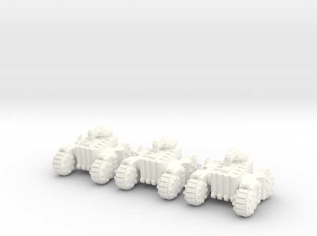 6mm - Light Tank in White Processed Versatile Plastic