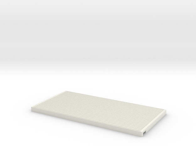 MH - Radiator Back panel in White Natural Versatile Plastic