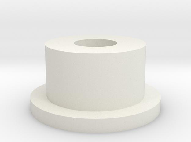Plate 5  boss. in White Natural Versatile Plastic