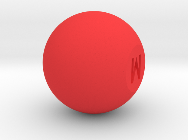Mix knob in Red Processed Versatile Plastic
