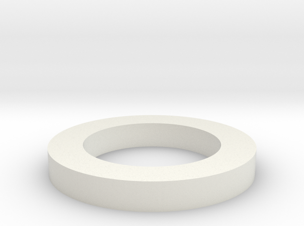 Spacer in White Natural Versatile Plastic
