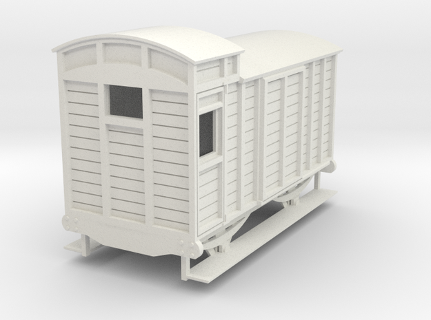 o-re-32-eskdale-brake-van in White Natural Versatile Plastic