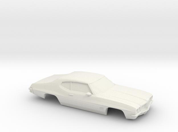 1/25 1968-72 Pontiac Le Mans in White Natural Versatile Plastic