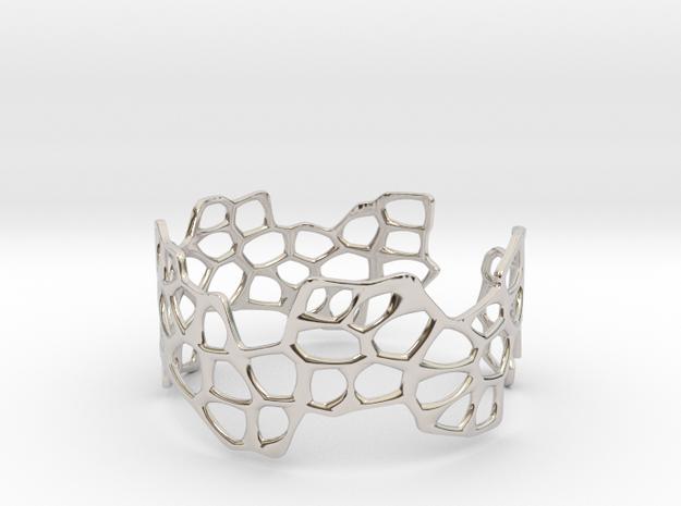 Cells Bracelet (open, 64mm) 3d printed