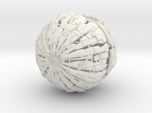 Massive Cyborg Sphere in White Strong & Flexible