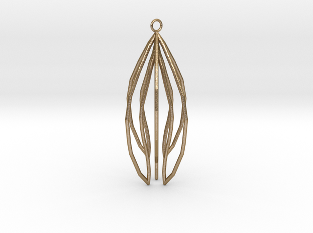 New Art Pendant in Polished Gold Steel
